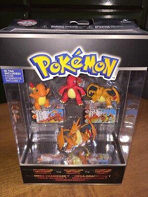 Charizard /& Mega Charizard Y Mini Figure 4-Pack Pokemon XY Charmander Charmeleon