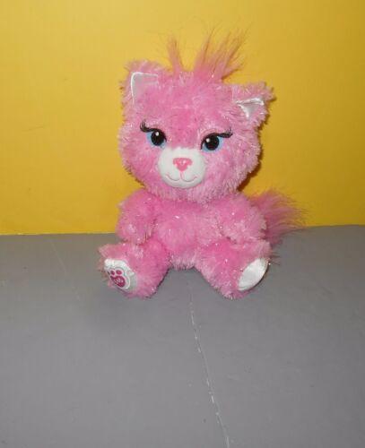 "Build A Bear 8/"" Small Frys Smallfrys Pink Silver Sparkle Kitten Sassy Cat Plush"