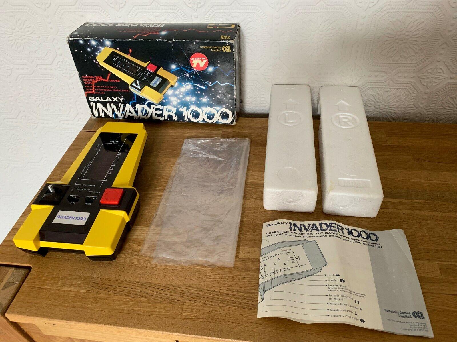 Mint Boxad CGL Galaxy Invader 1000 årgång 1980 Handhållen Electronic spel - A