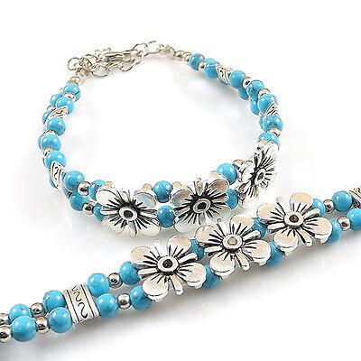 DIY NEW Hot Fashion Free shipping Tibet jade turquoise bead bracelet S234