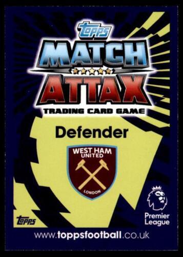 Match Attax 2016-2017 West Ham United Hombre Winston Reid del Partido No 454