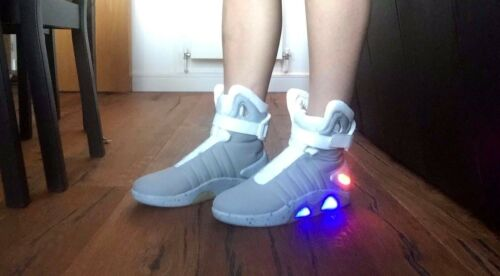 All Sizes NEW Mag Back to the Future Light Up Grey Trainers Shoes
