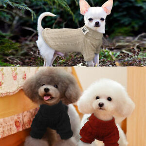 Hand-Knit-Dog-Warm-Sweaters-Clothing-Soft-for-Small-Dog-Pet-Puppy-New