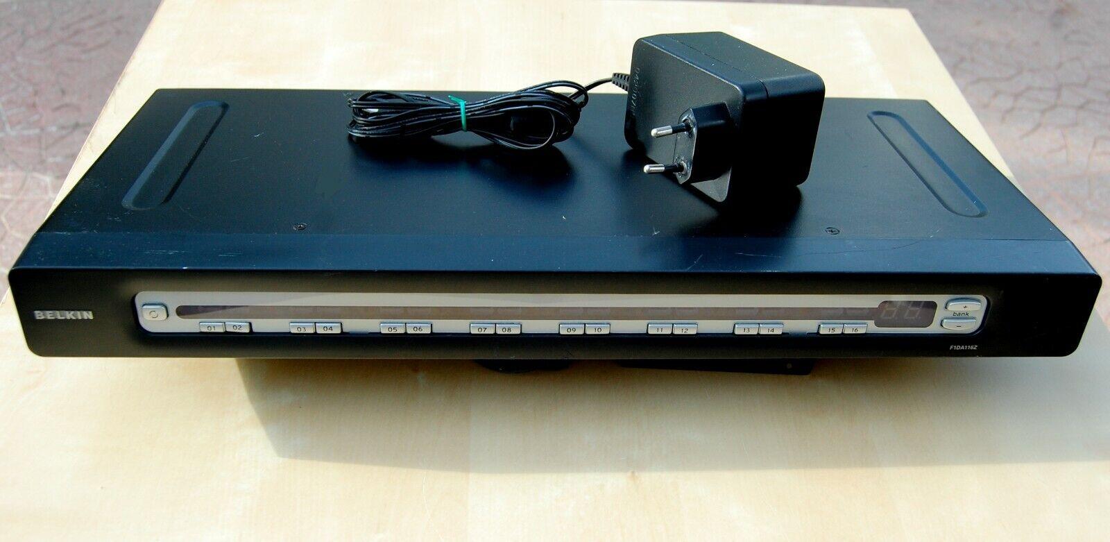 Belkin F1DA116Z Toggle 16 Ports KVM Omniview USB & Ps/2 PRO3