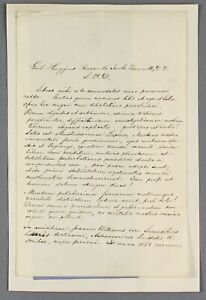 1854-ALS-latin-letter-young-astronomer-William-Huggins-to-mentor-James-Bennett