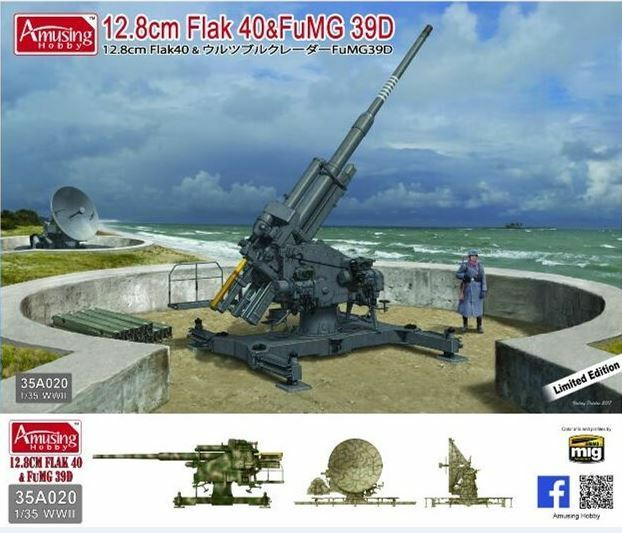 Amusing Hobby 35A020 1 35 12.8cm Flak 40 and FuMG 39D