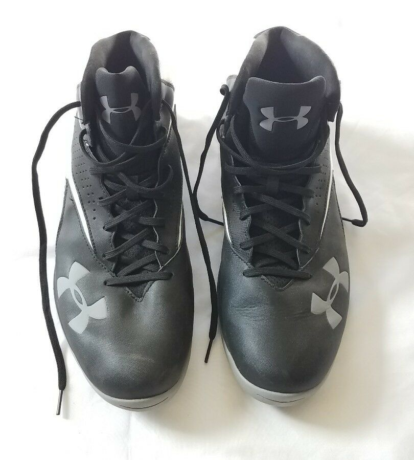 UNDER ARMOUR UA LOCKDOWN MID BASKETBALL MEN SHOES BLACK 1269281-002 SZ 14