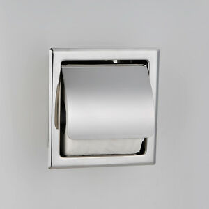 Stainless Steel Modern Chrome Concealed Toilet Roll Holder With