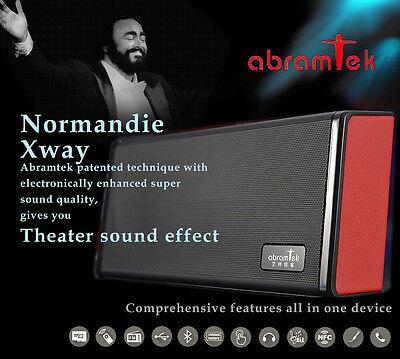 Abramtek Normandie Bluetooth NFC  MP3 Player Speaker w Surround Subwoofer Effect
