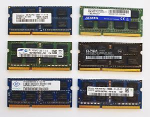 4GB DDR3 1600MHz PC3-12800S Laptop SODIMM RAM Memory ~ 1.5v 204pin iMac Samsung