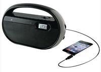 Gpx Black Am Fm Portable Ac Dc Table Or Shop Radio Smartphone Input