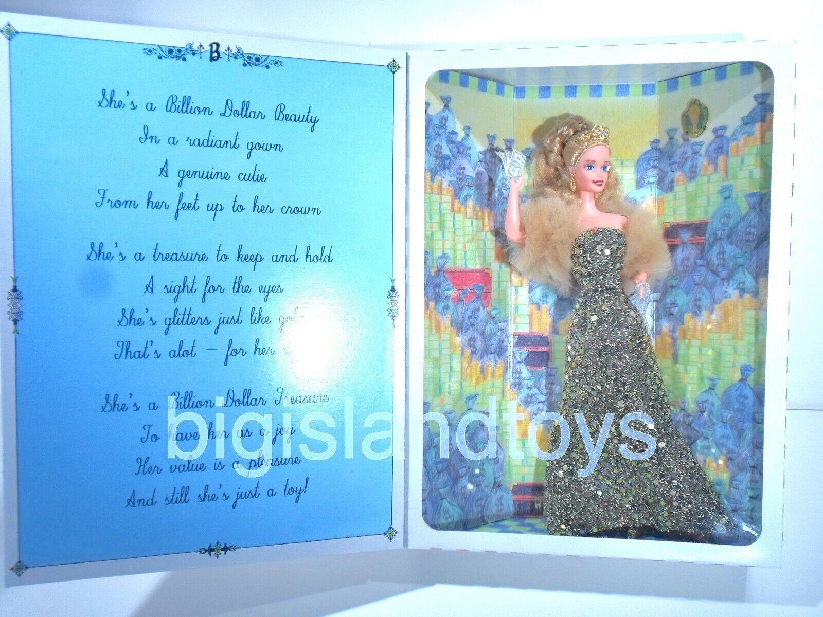 Los Grandes Grandes Grandes Lagos Muñeca Barbie Collector's Club mil millones de dólares de belleza Muñeca 1998 Sellado  servicio honesto