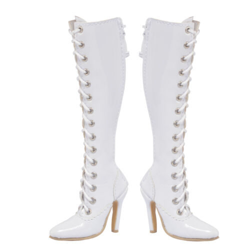 """1//6 Scale white hollow female high heel boots Shoe F 12/"""" Phicen Verycool Body"""