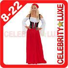 New Ladies German Heidi Beer Maid Oktoberfest Wench Fancy Dress Costume Gretchen