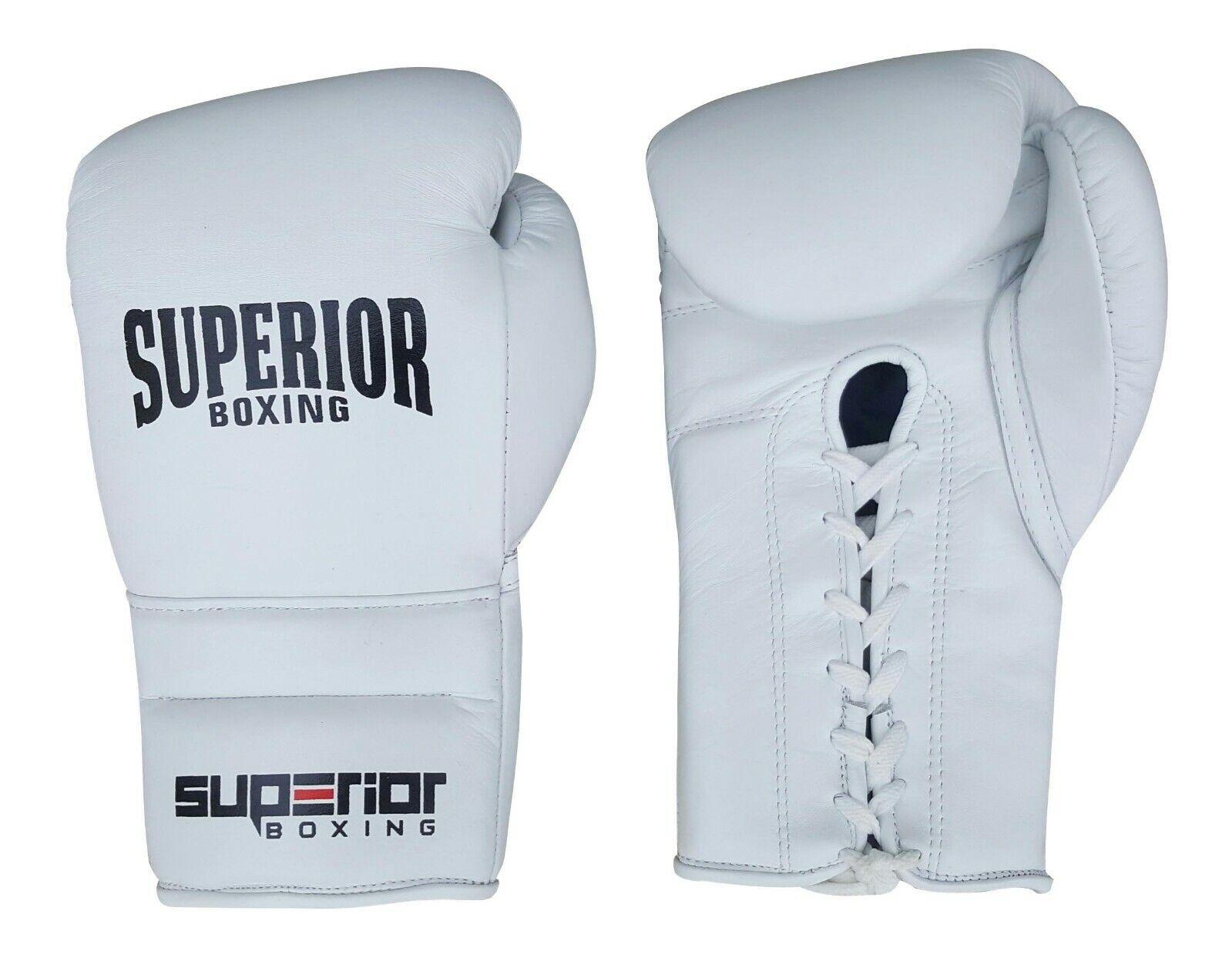 Superior Professional Lace up 12oz Sparring Boxhandschuhe gewinnen Boxhandschuhe