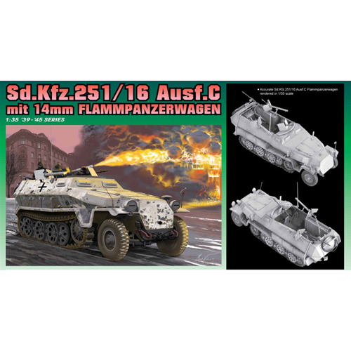 SD.KFZ 251/16 C FLAMMPANZERWAGEN KIT 1:35 Dragon Kit Mezzi Militari Die Cast