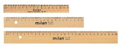 Buche natur 30cm lang Lineal Holz
