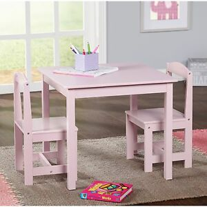 Gentil Details About Study Small Table And Chair Set Generic 3 Piece Wood Toddler  Kids Furniture