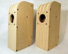 """Transmission line speaker boxes for 3"""" fullrange driver, DIY kit, T-Line FF85WK"""