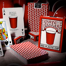 Bicycle Red Plastic Cup Deck - Playing Cards - Magic Tricks - New