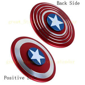 Hand-Fidget-Finger-Spinner-ADHD-Focus-Toy-For-Adult-Captain-America-Shield-Metal
