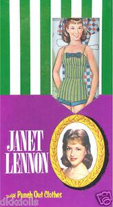 Janet Lennon Punch Out Boxed Vintage Repro Paper Doll Set, KatJan, 2009-2014