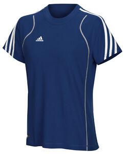 Adidas-Damen-T-Shirt-blau-Laufshirt-Gr-XS-S-M-L-XL-Training-Fitness
