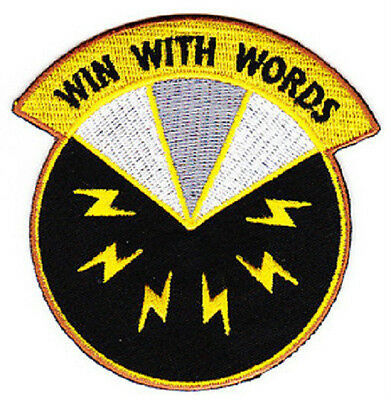 ARMY 17th Psychological Operations BN PSYCH OPS Military Patch WIN WITH WORDS