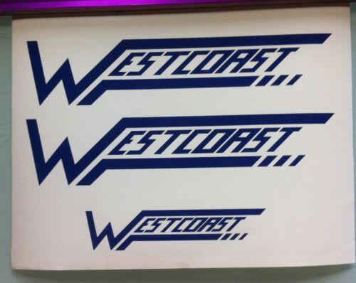 Westcoast Swing arm Decals Diecut Blue Swingarm ATC250R ATC Tri-Z Tecate 250R