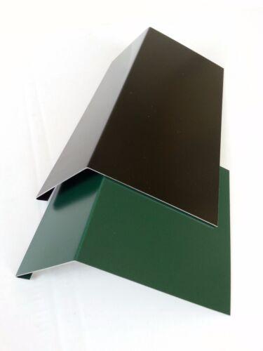 1m Traufblech Rinneneinhang Einlaufblech PREFA Alu Moosgrün RAL6005+Schwarz9005