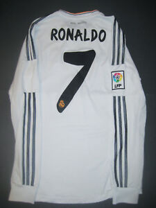 d15a14b0bb8 2013 2014 Adidas Real Madrid Cristiano Ronaldo Long Sleeve Jersey ...