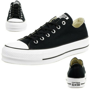 Details zu Converse C Taylor All Star LIFT OX Chuck plateau Sneaker canvas black 560250C