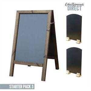 100% De Qualité En Bois Un Conseil Blackboard Starter Pack Table Top Tableau Noir (starter 3)-afficher Le Titre D'origine Emballage Fort