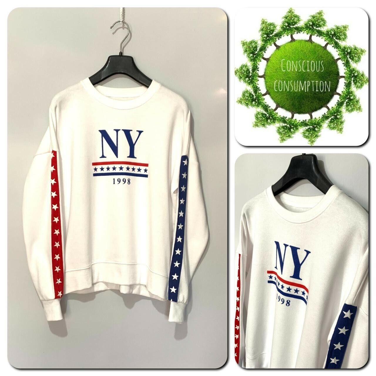 New Look Womens Sweatshirt Size 10 White Long Sleeve