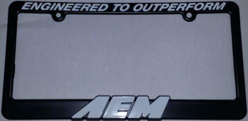 AEM 10-400W License Plate Frame Surround Original Plastic Black