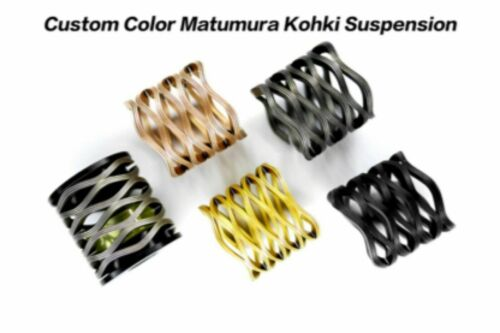 Matumura Kohki Scrowave HARD Springs Suspension for Brompton Bicycle gold black