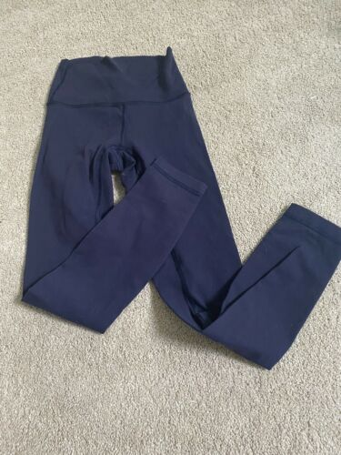 lululemon navy blue wunder under leggings size 2