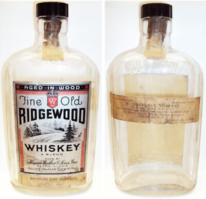 Rare 1933 Old Ridgewood Whiskey Bottled 5 Days After Prohibition Lifted Dec 11