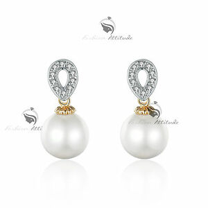 18k-yellow-gold-GF-made-with-swarovski-crystal-wedding-pearl-stud-earrings