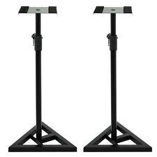 18in Triangle Base Adjustable Steel Studio Speaker Stand - Black, Pack of 2