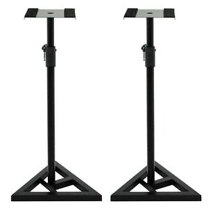 Studio-Monitor-Speaker-Stand-Height-Adjustable-Concert-Band-Heavy-Duty-1-Pair