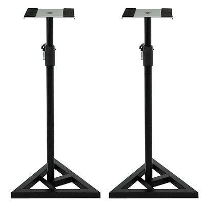 studio monitor speaker stand height adjustable concert band heavy duty 1 pair 700161261349 ebay. Black Bedroom Furniture Sets. Home Design Ideas