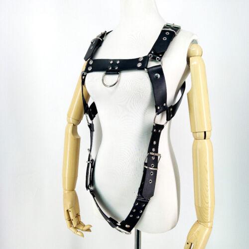 Men/'s Leather Strap Bondage Gothic Harness Bdsm Buckles Costume Suspenders Belts