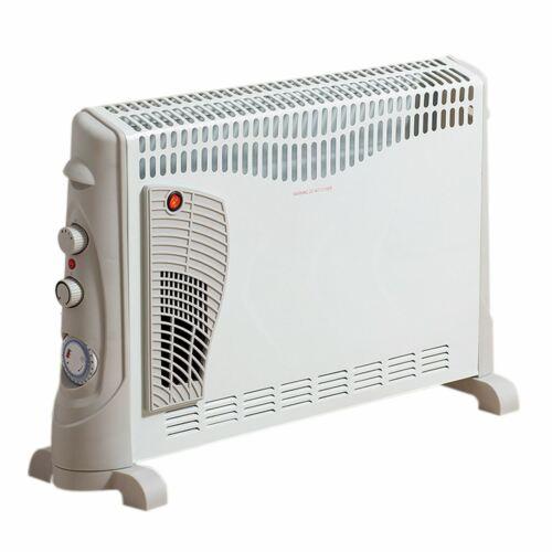 2000W Turbo eléctrico aire caliente por convección portátil pié Termostato & Temporizador
