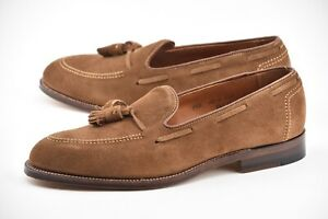 NEW-w-BOX-ALDEN-9-5D-SNUFF-SUEDE-TASSEL-LOAFERS-BROOKS-BROTHERS-SHOES-24936
