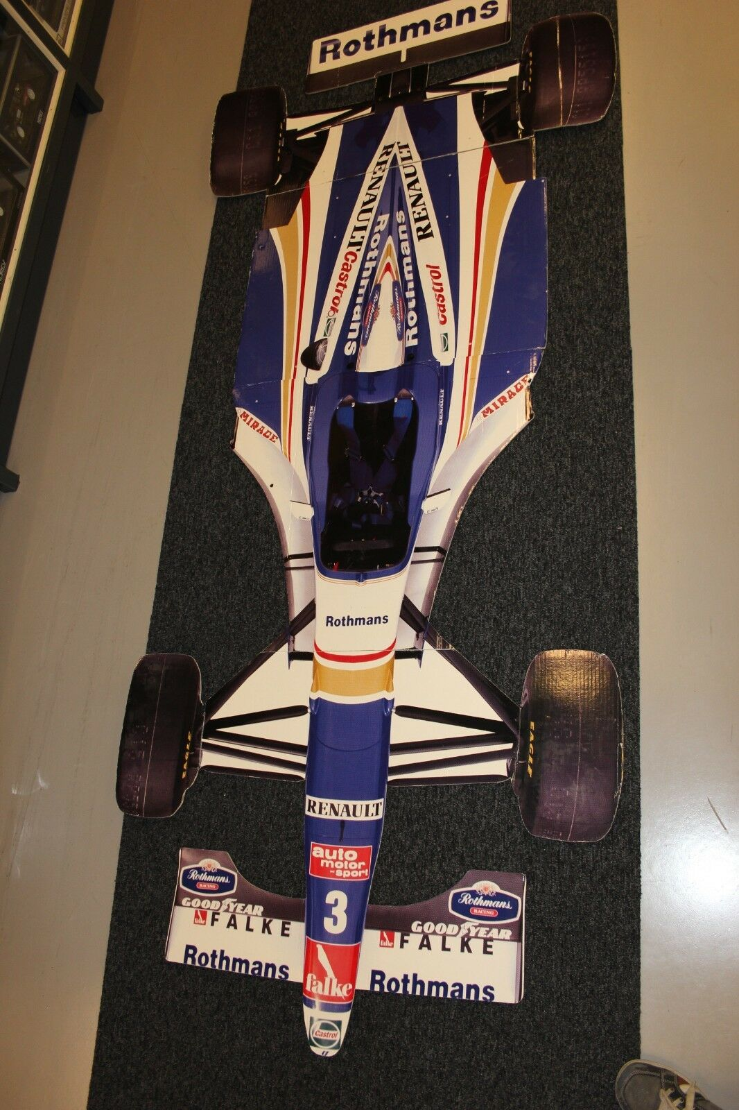 Cardboard model rougehmans Williams Renault FW19 1997  3 Villeneuve (235 cm )