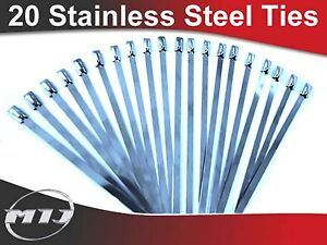 20-Stainless-Steel-Cable-Ties-for-Heat-Wrap-300mm-4-6mm