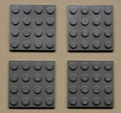 x25 NEW Lego Black Plates 4x4 Brick Building Black Baseplates