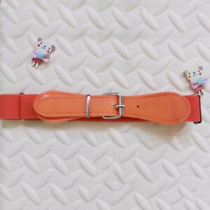 Toddler Baby Kids Boys Girls Adjustable PU Leather Belts Waistbands Candy Color