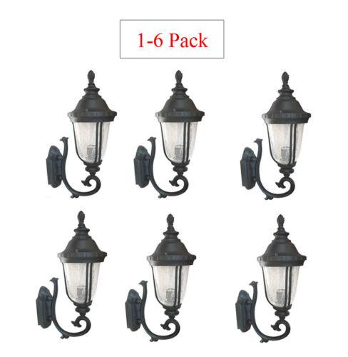 Multi-Pack Outdoor Cast Aluminum Lighting Fixture Lantern Wall Sconce Black WU
